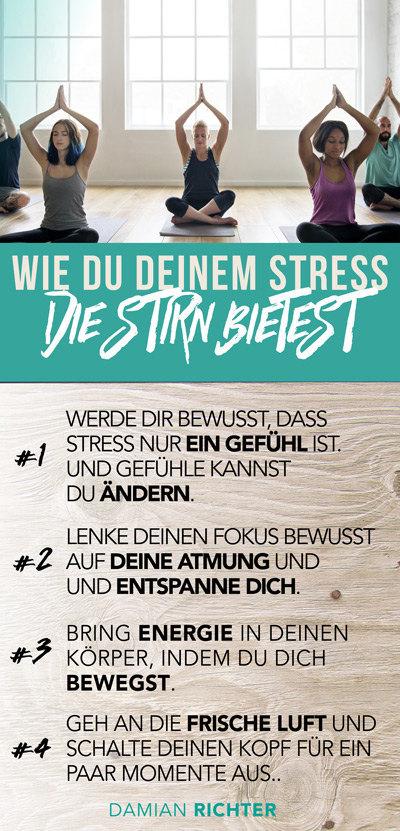 4 Tipps gegen Stress