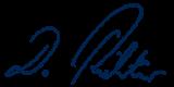 Unterschrift Damian Richter schwarz
