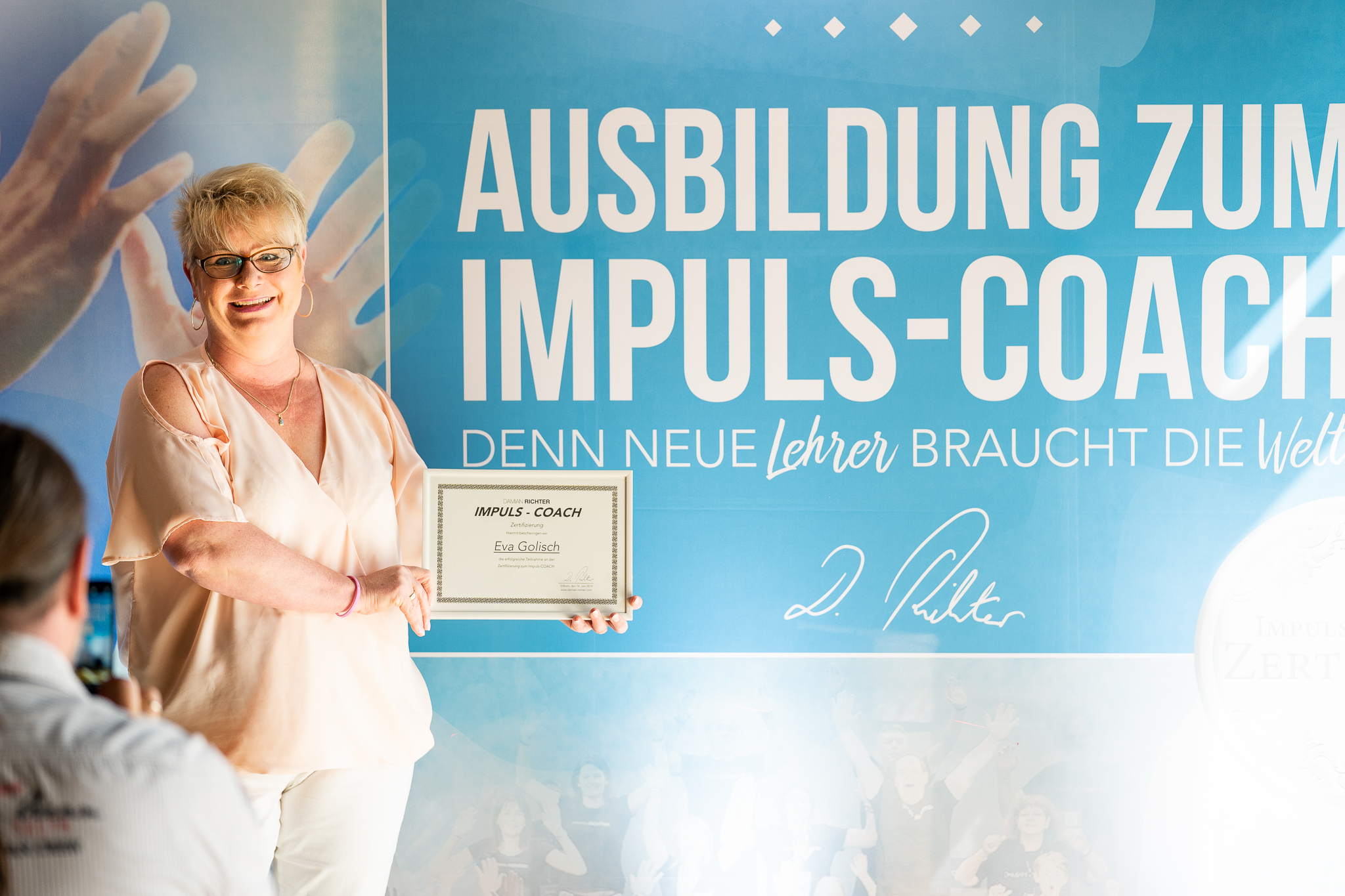 Teilnehmerin mit Impuls-Coach-Zertifikat