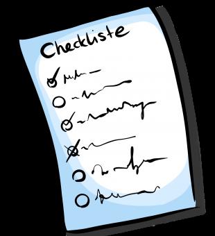 tägliche Checkliste