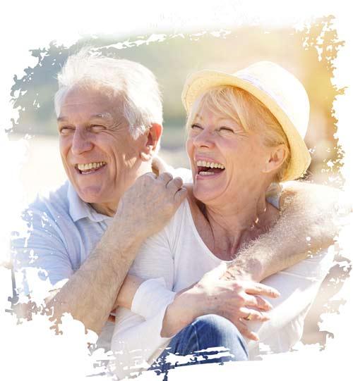 Rentenpaar die die Kunst des Liebens kennen