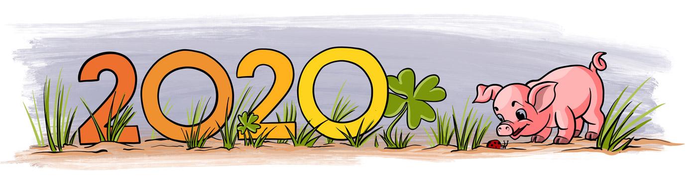 Happy New Year: Viel Freude und Glück wünsche ich Dir für das Jahr 2020