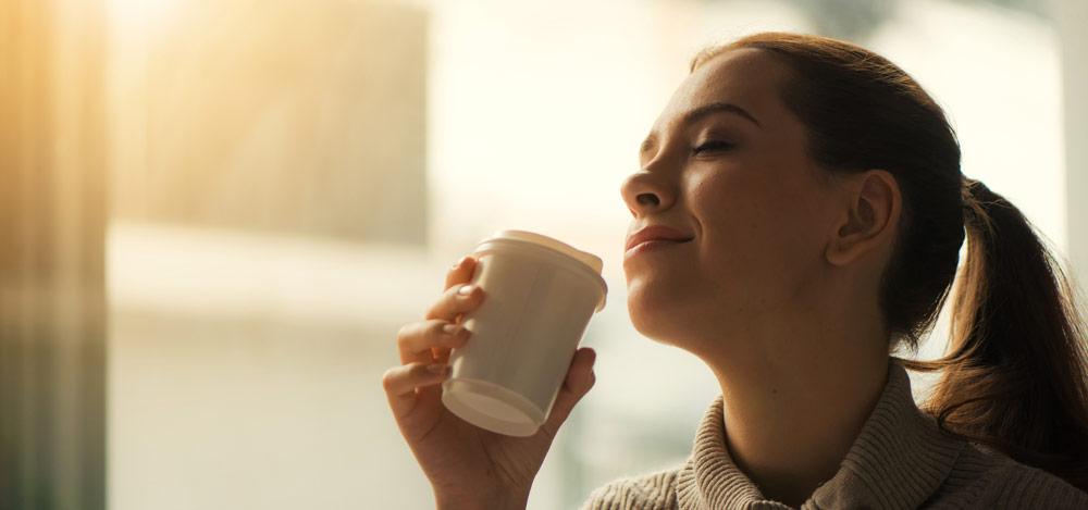 Ein Kaffee für eine Entspannung