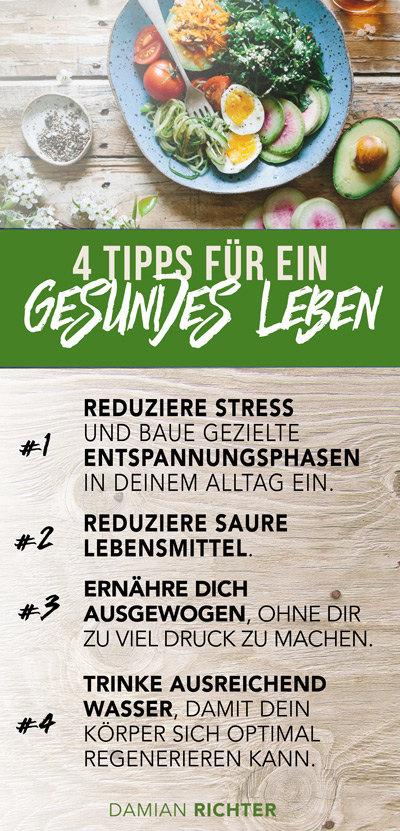 4 tipps zum gesund leben