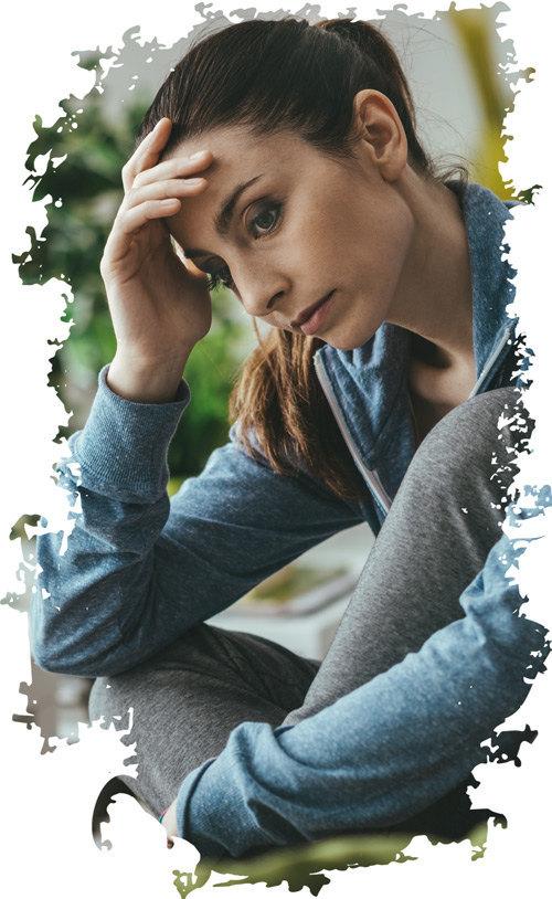 traurige Frau in der Midlife-Crisis