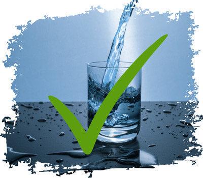 gesund leben durch Wasser trinken