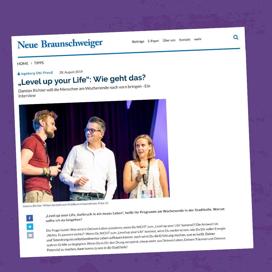 Damian-Richter_Braunschweiger-Zeitung_Level-uy-your-Life_Wie-geht-das