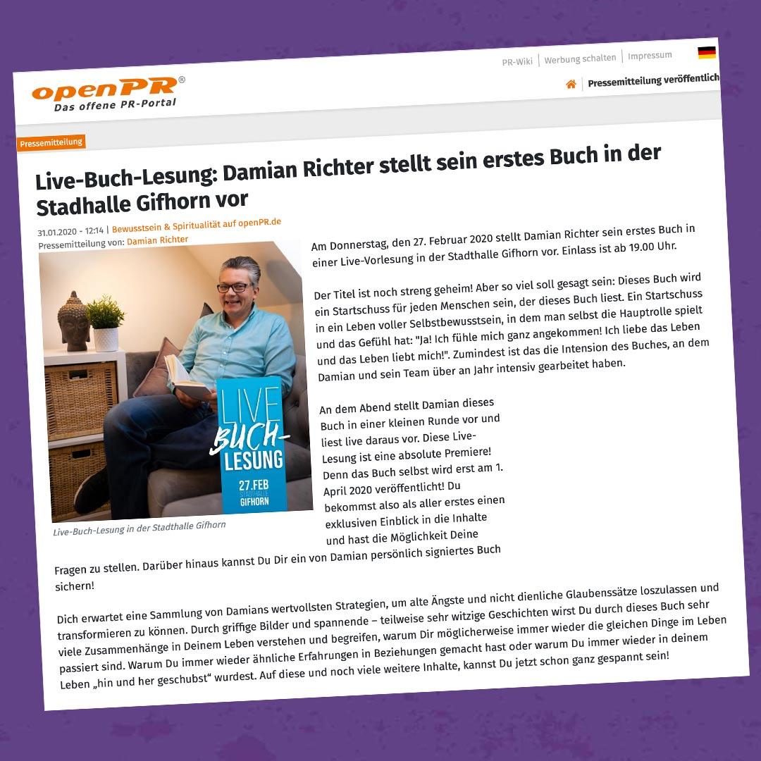 Damian-Richter_OpenPR_Live-Buch-Lesung