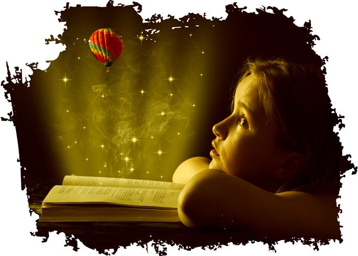 Buch schreiben voller Fantasie