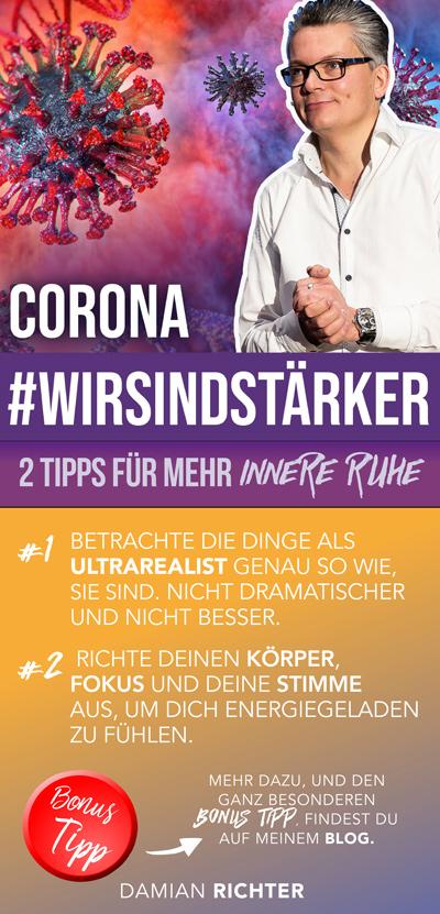2 Tipps, für innere Ruhe in der Corona Krise