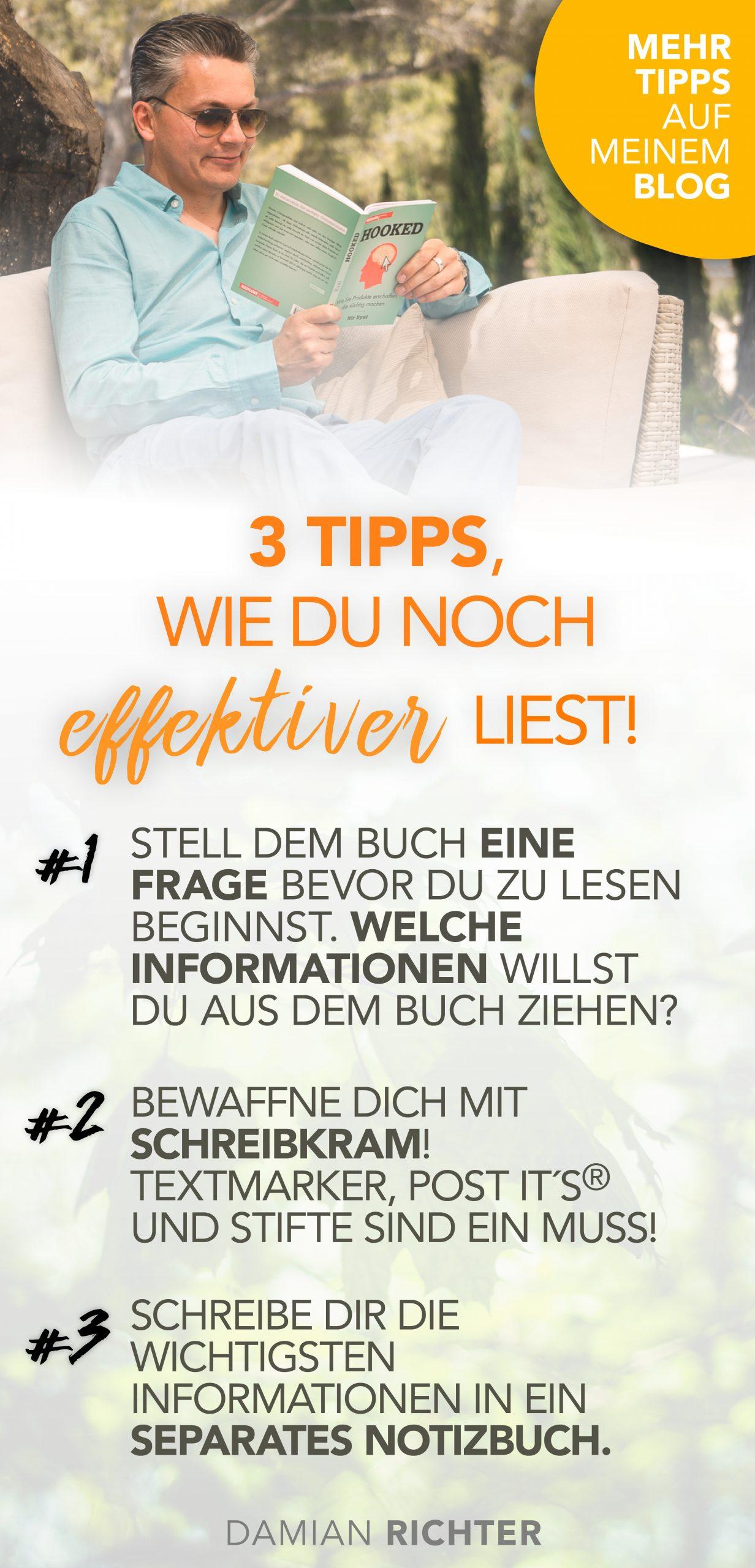 3 Tipps zum effizienter lesen