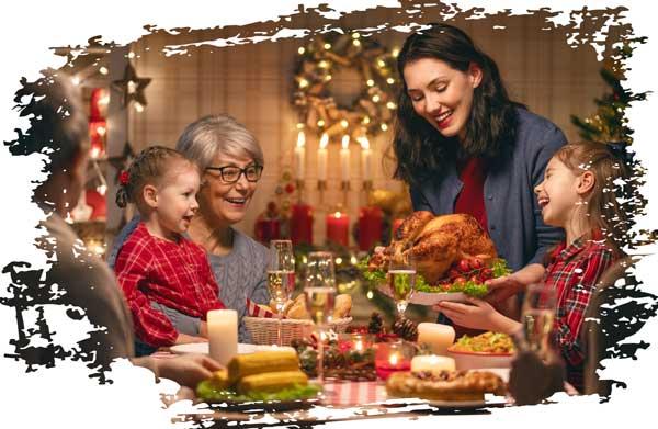 Weihnachtszeit Familie