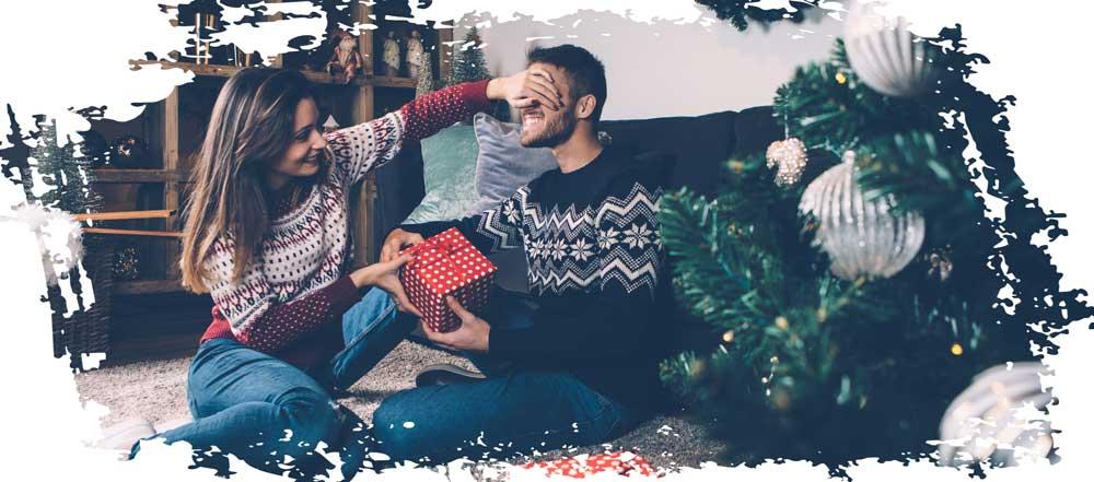 Weihnachtszeit Paar